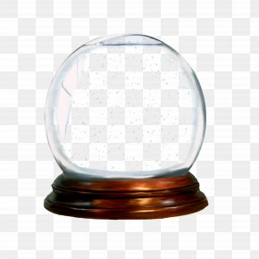 Candle Holder Lamp - Christmas Snow Globe PNG