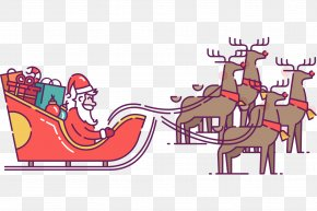 Santa Claus - Santa Claus's Reindeer Santa Claus's Reindeer Christmas Day Clip Art PNG