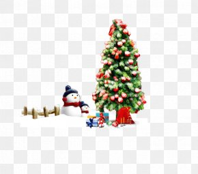 Decorated Christmas Tree - Christmas Tree Christmas Ornament Christmas Decoration Gift PNG