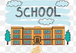 School Buildings - School Drawing Illustration PNG