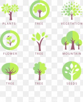 9 Trees Design Icon Vector Material - Tree Icon Design Logo Icon PNG