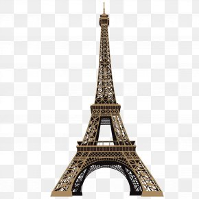 Hand-painted Eiffel Tower - Eiffel Tower Wall Decal RoomMates Decor PNG