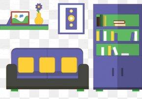 Exhibition Cabinet Bookshelf Profile - Living Room Gratis PNG