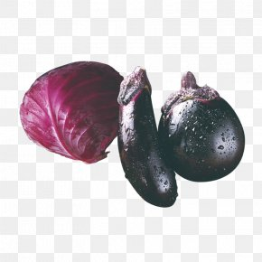 Fresh Ingredients Purple Cabbage Eggplant - Red Cabbage Fruits And Vegetables Eggplant PNG