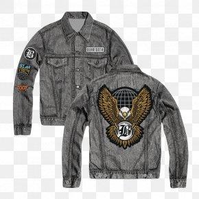 Black Denim Jacket - Leather Jacket Stone Washing Denim Bluza PNG
