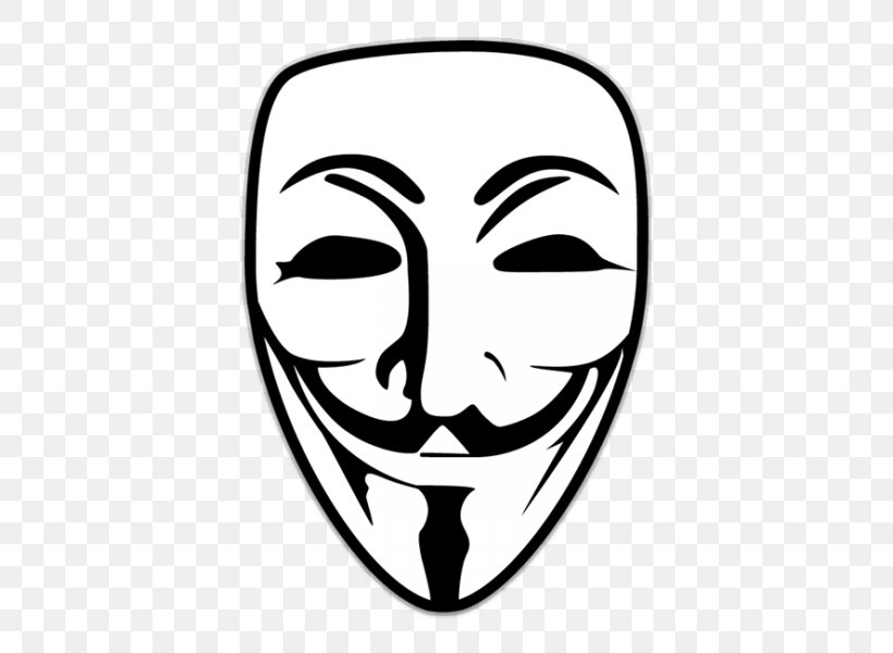 Sticker Guy Fawkes Mask Anonymous Decal, PNG, 600x600px, T Shirt, Anonymous, Black And White, Clip Art, Decal Download Free