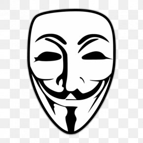 Anonymous Mask - Sticker Guy Fawkes Mask Anonymous Decal PNG