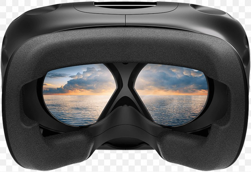 HTC Vive Virtual Reality Headset Oculus Rift, PNG, 950x650px, Htc Vive, Diving Mask, Eyewear, Game Controllers, Glasses Download Free