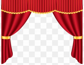 Transparent Red Curtain Clipart - Theater Drapes And Stage Curtains Window Clip Art PNG