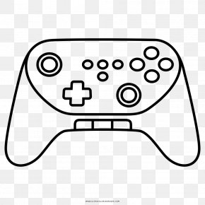 Gamepad - Wii Video Game Consoles Coloring Book Drawing Clip Art PNG