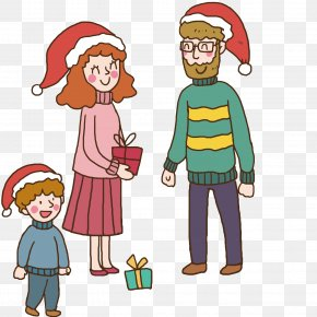 Family Gift Exchange - Christmas Gift Clip Art PNG