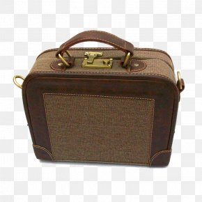 Retro Small Hand Luggage - Briefcase Hand Luggage Suitcase Baggage PNG