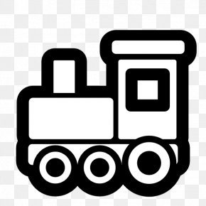 Black And White Line Art - Toy Trains & Train Sets Rail Transport Black And White Clip Art PNG