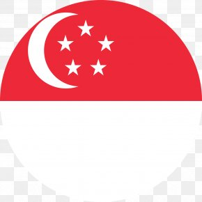 Flag - Flag Of Singapore National Flag PNG
