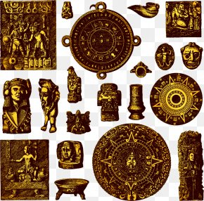 Hand-painted Pattern Vector Golden Egypt - Maya Civilization Royalty-free Photography Icon PNG