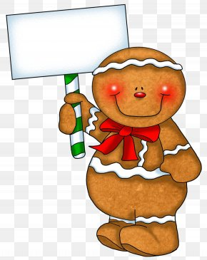Transparent Gingerbread Ornament With Empty Sign - The Gingerbread Man Gingerbread House Clip Art PNG
