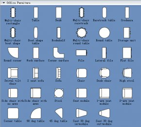 Architecture Symbols Cliparts - Office Furniture Table Page Layout Interior Design Services PNG