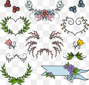 Vector Flowers And Garlands FIG. - Euclidean Vector Adobe Illustrator PNG