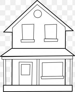 House - Drawing Line Art House Clip Art PNG