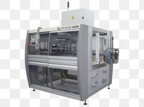 Machine Packaging And Labeling Conveyor System Production Line PNG