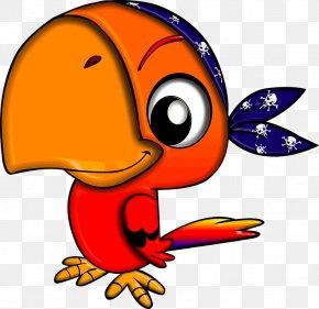 Cute Parrot File - Pirate Parrot Piracy Clip Art PNG