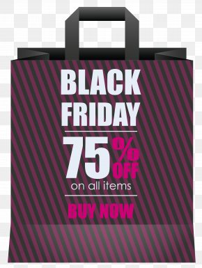 Black Friday 75% OFF Black Shoping Bag Clipart Image - Black Friday Clip Art PNG