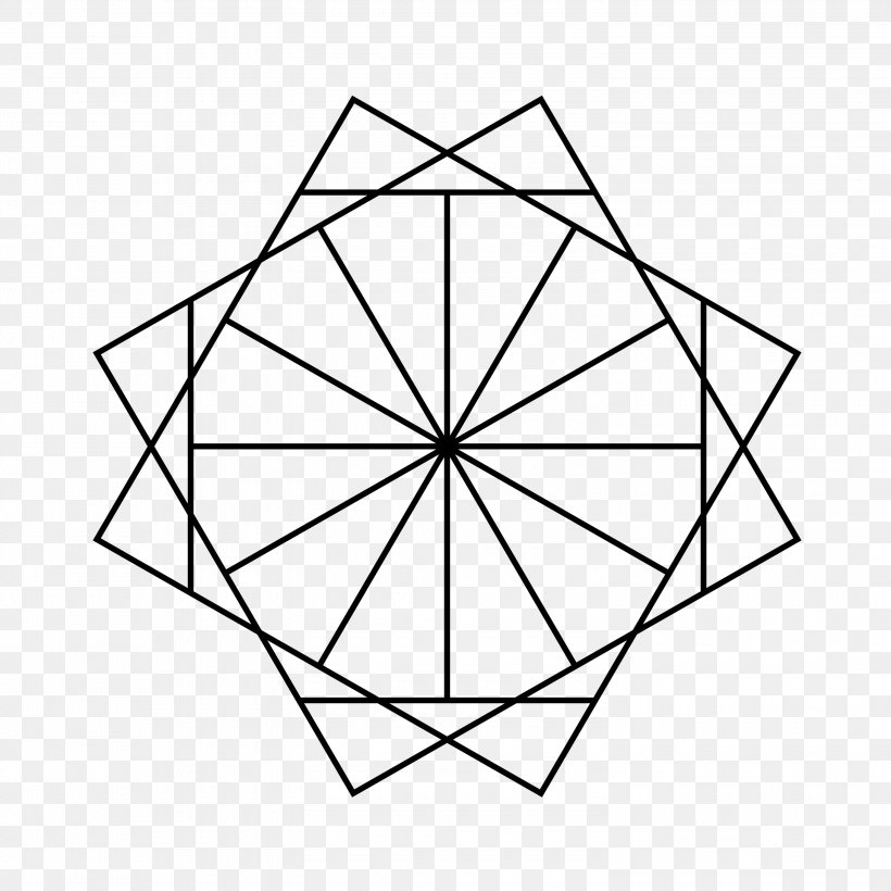 Star Polygon Dodecagon Inscribed Figure Point, PNG, 3000x3000px, Star Polygon, Area, Black And White, Circumscribed Circle, Convex Polygon Download Free