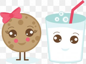 Kawaii Cookie Cliparts - Chocolate Milk Chocolate Chip Cookie Cupcake Clip Art PNG