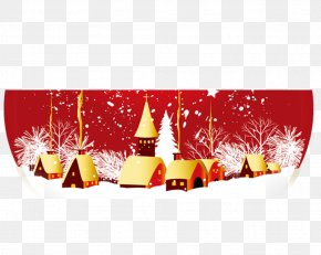 Snow Village - Christmas Tree Snow Globe Clip Art PNG
