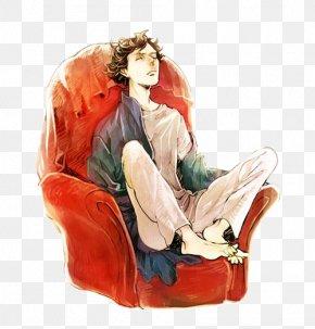 Sherlock Holmes Sat With Hand Painted - Mycroft Holmes Sherlock Holmes Doctor Watson Molly Hooper 221B Baker Street PNG