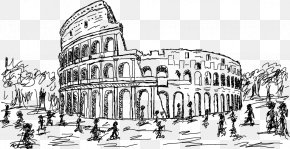 Colosseum Artwork - Colosseum Drawing Stock Illustration Clip Art PNG