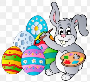 Transparent Easter Bunny With Eggs Clipart Picture - Easter Bunny Easter Egg Clip Art PNG