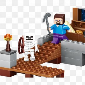 My World Lego Skeleton Attack - Minecraft Toy Block LEGO Action Figure PNG