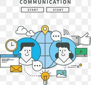Vector Global Information Friends - Information Illustration PNG