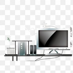 LCD Computer Cartoon - Television Set Computer Monitors LCD Television Flat Panel Display PNG