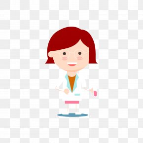 Holding A Test Tube Of A Female Scientist - Scientist Euclidean Vector PNG
