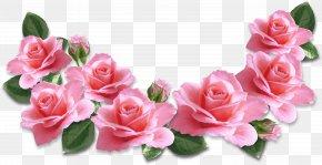 Pink Roses Decoration Clipart Image - Rose Flower Pink Clip Art PNG