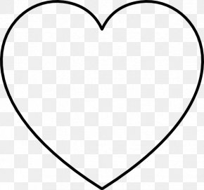 Love Heart Shape - Black And White Heart Area Pattern PNG
