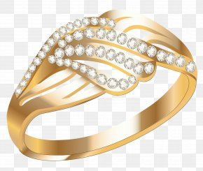 Gold Ring - Earring Jewellery Wedding Ring PNG