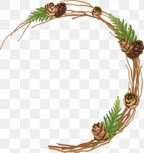 Creative Holiday Pine Cones Branch - Conifer Cone Pine Tree Branch PNG
