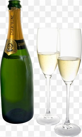 Champagne Bottle - Champagne Glass Wine Bottle PNG
