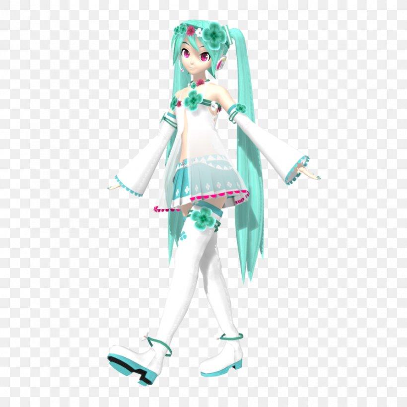 Hatsune Miku MikuMikuDance Turquoise Character Teal, PNG, 894x894px, Hatsune Miku, Belly Dance, Character, Clothing, Costume Download Free