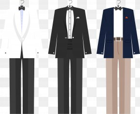 Vector Painted Suit Suit - Tuxedo Suit Traje De Novio Euclidean Vector PNG