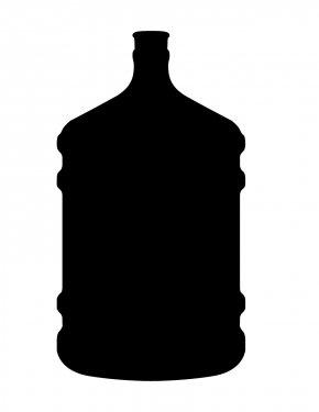 Bottle Silhouette - Water Bottle Silhouette Clip Art PNG