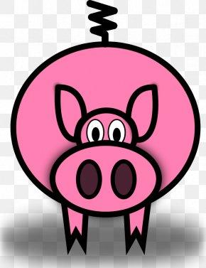 Cartoon Flying Pig - Domestic Pig Cartoon Drawing Clip Art PNG