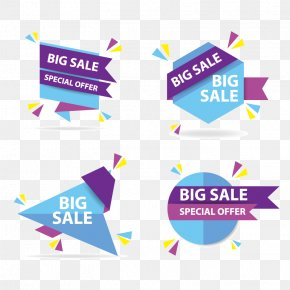 Colorful Shopping Sale Banner Template, Discount Sale Banner Collection Set - Euclidean Vector Web Banner Dialog Box Icon PNG