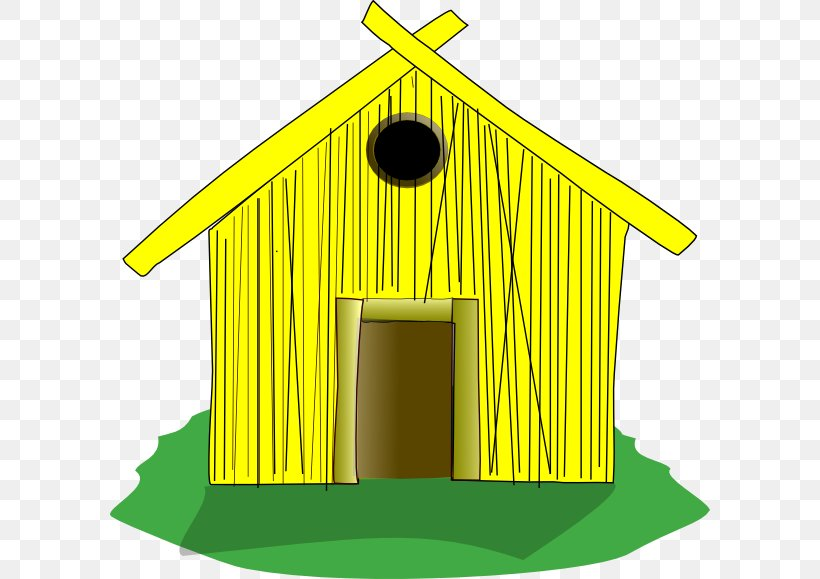 House Straw The Three Little Pigs Clip Art, PNG, 600x579px, House, Building, Bungalow, Facade, Free Content Download Free