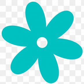 Flower Clip Art - Teal Flower Turquoise Clip Art PNG