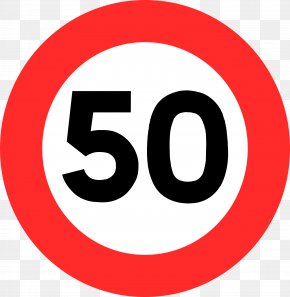 50 - Traffic Sign Speed Limit Car Road Signs In France PNG