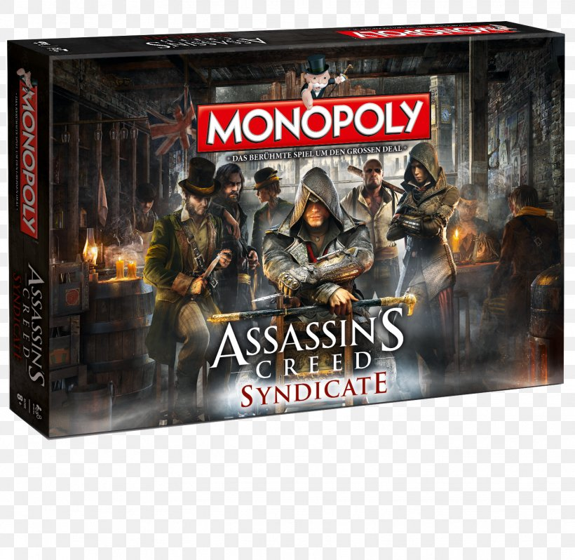 Assassin's Creed Syndicate Monopoly Assassin's Creed: Brotherhood Board Game, PNG, 1528x1488px, Assassin S Creed Syndicate, Action Figure, Advertising, Assassin S Creed, Assassins Download Free